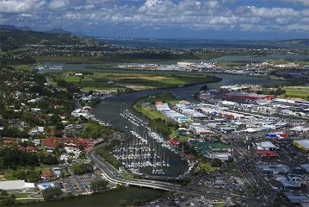 Whangarei City from the air