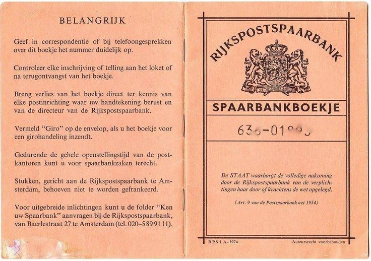 Spaarbankboekje