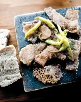 Tripe tapas with yellow peppers at Movida Next Door, in Melbourne's CDB. Delicious! Read more: http://dest.asia/HQmzwu