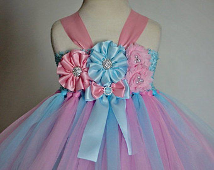 Algodón de azúcar Tutu vestido, atuendo chicas cumpleaños, personalizado bebé cumpleaños Tutu vestido, cumpleaños rosa, niña cumpleaños atuendo