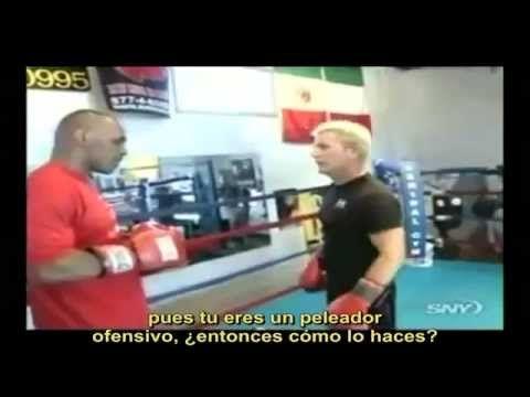 una entrevista que le hicieron a mike tyson, de sus combos, golpes, etc boxeo puños peleas trompadas piñas