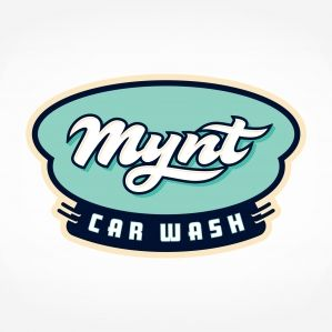 Retro logo for a car wash located in Boston, MA.