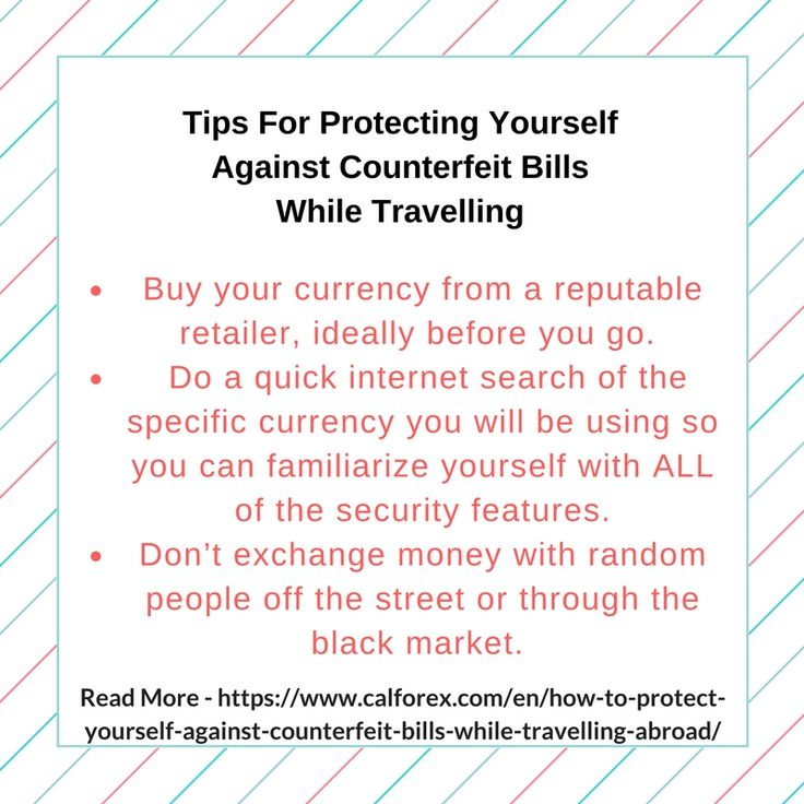 Receiving a counterfeit bill can happen anywhere, but tourists in other countries are particularly vulnerable to being scammed because they are less likely to be familiar with the bank notes. Read this blog and find tips to protecting yourself against counterfeit bills while travelling.