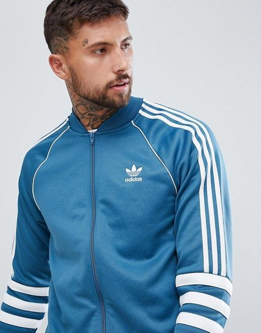 854a5fa475c8a adidas Originals | adidas Originals Authentic Superstar Track Jacket In  Blue DJ2857