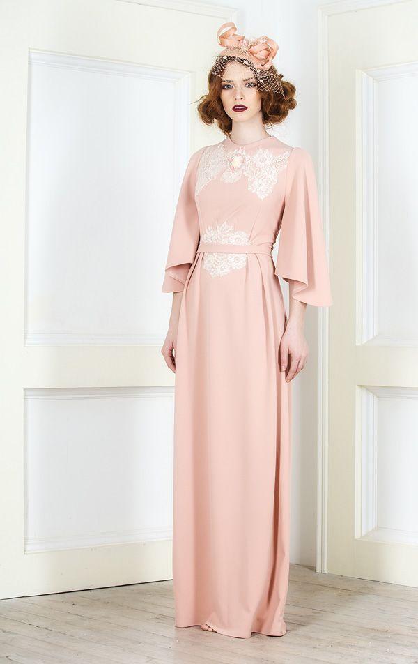 """Светлое розовое платье для торжества с кружевом """"Эдит"""""""