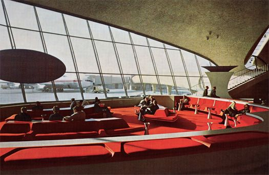 TWA terminal at JFK (1962), New York, New York, designed by Eero Saarinen - gorgeous!