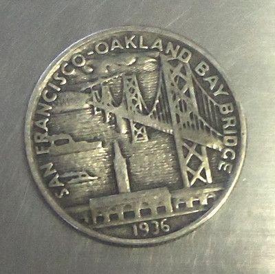 1936 San Francisco Oakland Bay Bridge Silver Half Dollar