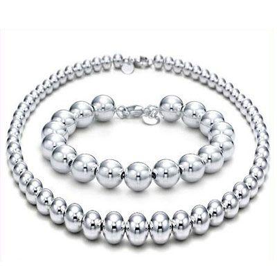 tiffany silver bead set