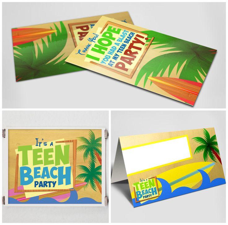 DISNEY - Teen Beach Movie Inspired - Birthday Party Package