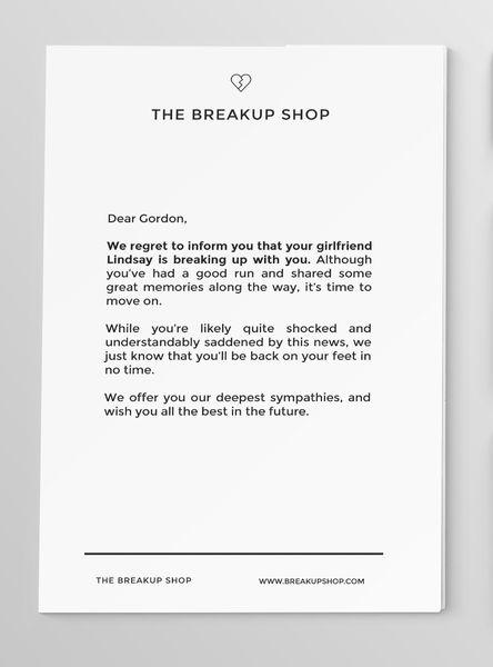 Breakup Letter - Standard | Breakup, Love boyfriend, Love