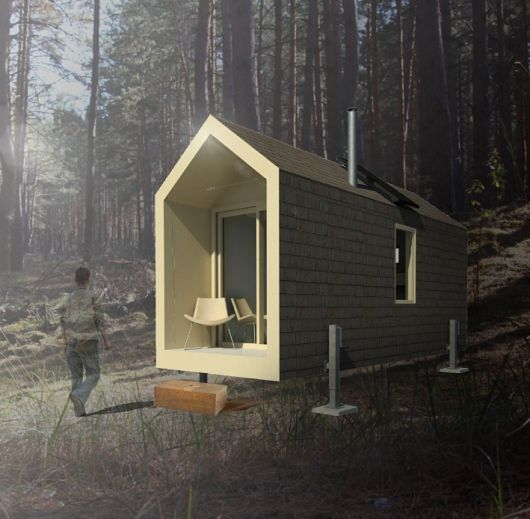 Cabin design results for CFI's International Sustainable Architecture Competition, New Brunswick | 1st Prize – The Whaelghinbran Nomadic Cabin | Bustler