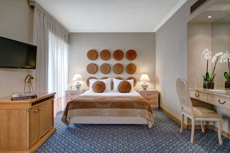 The luxurious Junior Suite of Divani Palace Acropolis  http://divaniacropolishotel.com