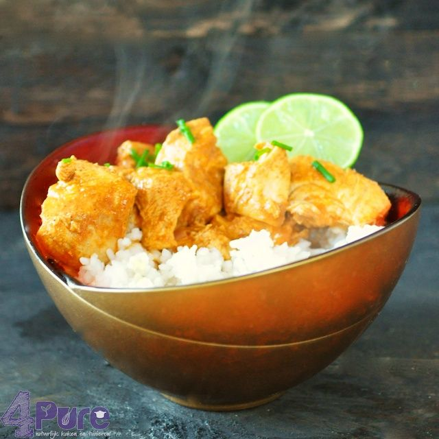 Chicken Tikka Masala | 4Pure - using pre-cooked chicken from Trader Joes, it's best left to marinate overnight for the best flavor
