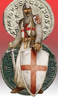 Knights Templar:  A #Knight #Templar and coins of the Order.