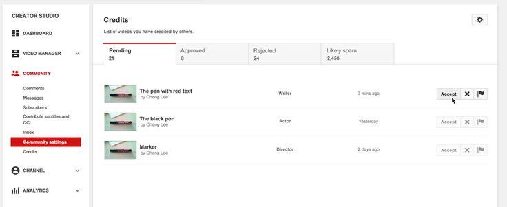 Közreműködéseid áttekintése - YouTube Súgó