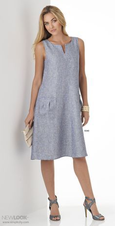 Easy-to-sew, easy-to-wear and perfect for summer. This trapeze shaped swing dresses can be made with a scoop neck, scoop neck and shark bite hem, or V-neck with half sleeves.