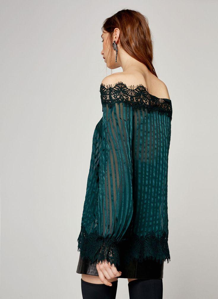 Camisa seda puntilla - Ver todo - Colección - Uterqüe España