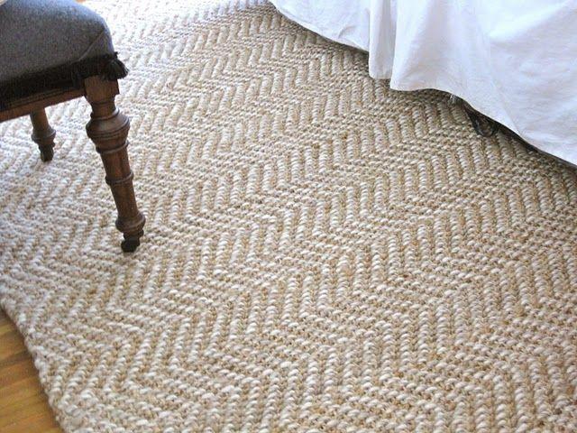 Jute herringbone rug from Hayneedle