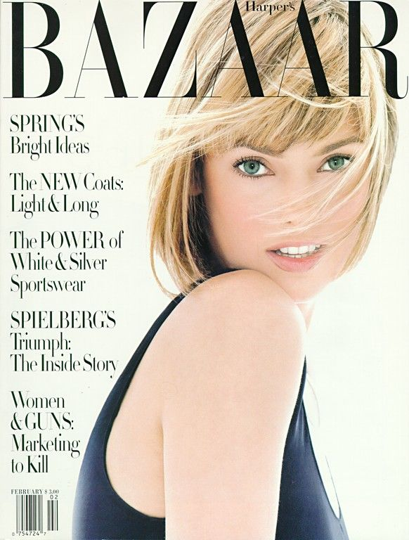 I haven't had bangs since 3rd grade, but Linda Evangelista is making me see the beauty of my Age-8 style. Thanks, Linda!