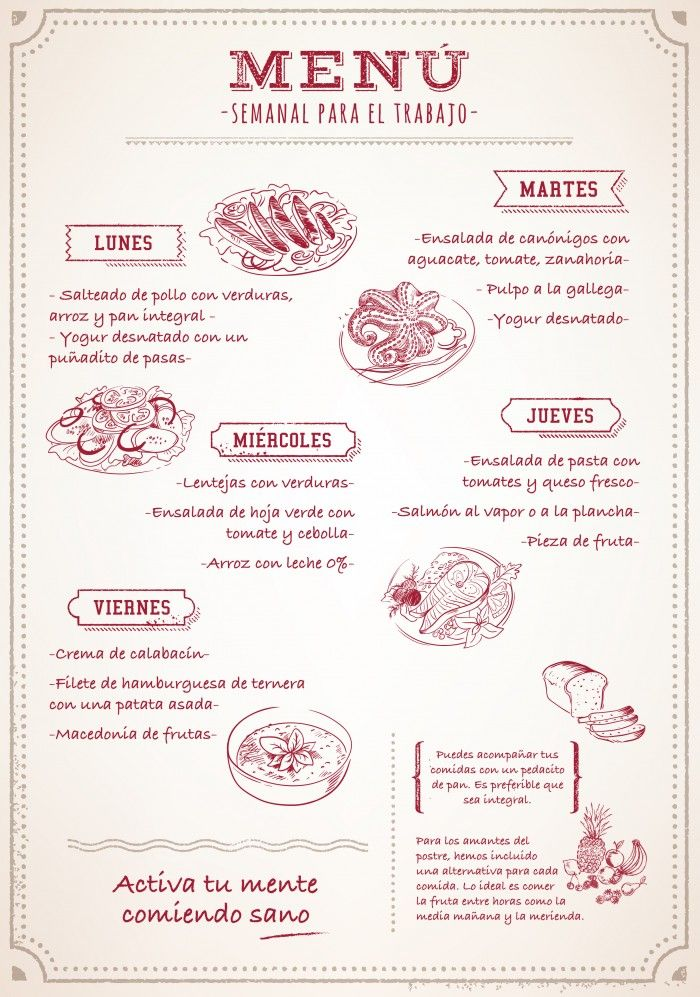 M S De 25 Ideas Incre Bles Sobre Menu Semanal Saludable En