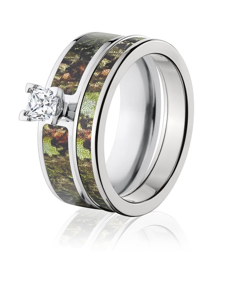 for ring titanium setting bands camo shardon engagement cz women round rings tree with product store prong set wedding pink band