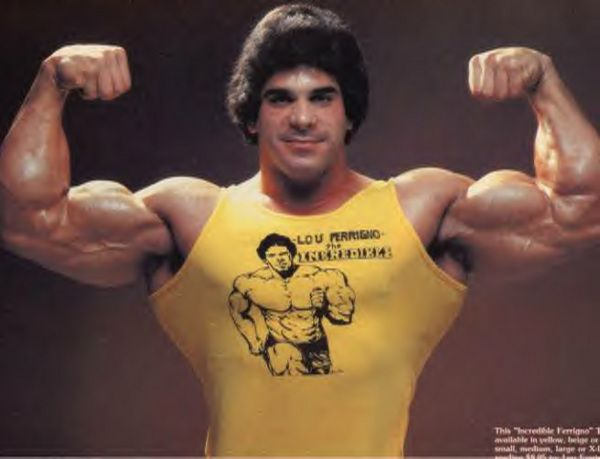 Lou Ferrigno (I wish they would stop being so mean to him on the apprentice!)
