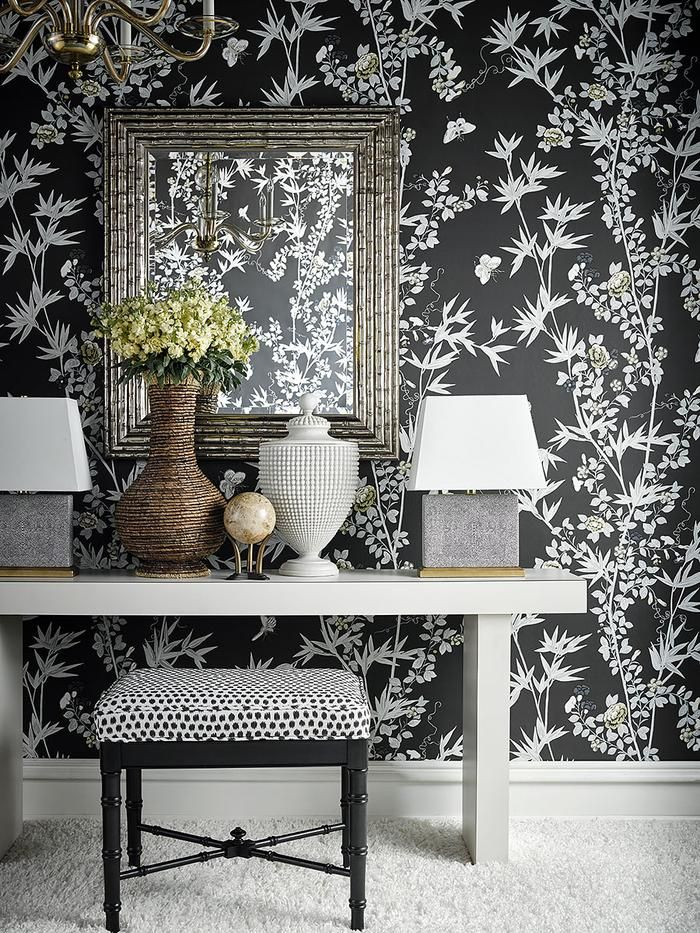 Scalamandre Jardin De Chine Espresso Wallpaper If These Walls