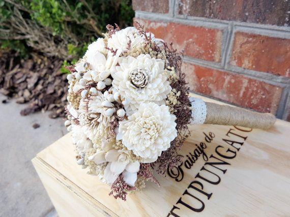 Fall Rustic Natural Bouquet Vintage Wedding door WilliamandWillow, $115.00