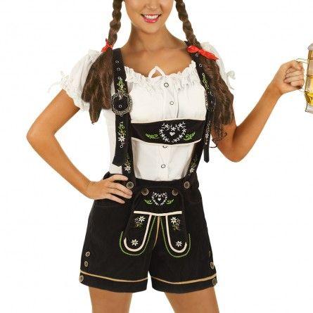 Womens Black Oktoberfest Lederhosen