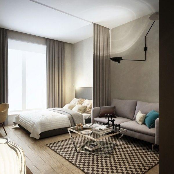 Apartment Bedroom Furniture Bed Queen 10x10 Ultimate Studio Design Inspiration 12 Gorgeous Apartments Designs