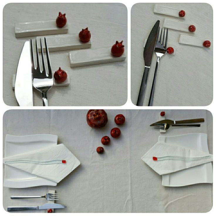 Kazasker-İstanbul konumunda Baykuş Art&CafeSofralara Baykuş Art dokunuşları#porte-fourchette cuillère #cutlery holder