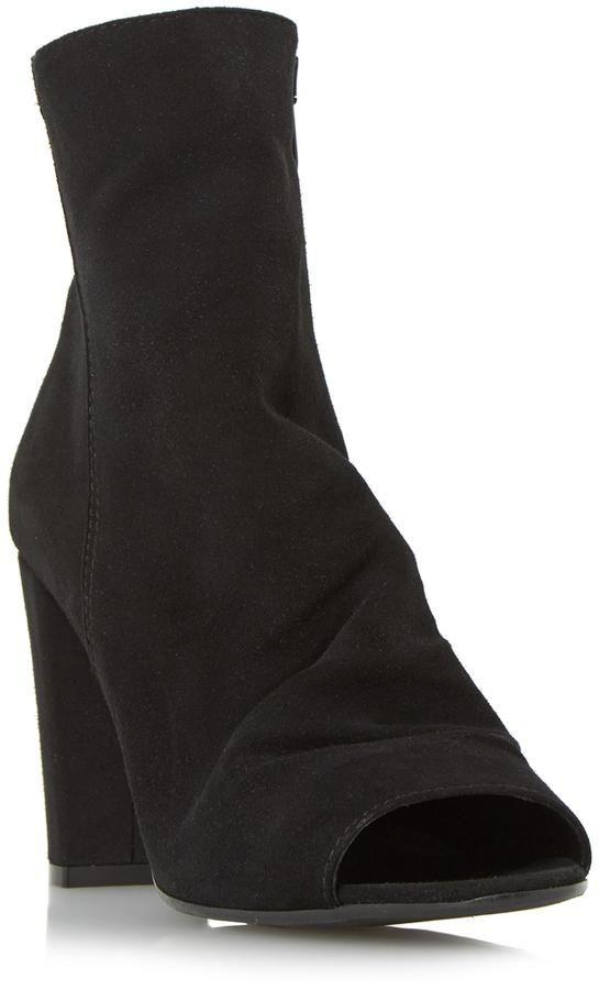 Dune London ODELLE - BLACK Peep Toe Ankle Boot