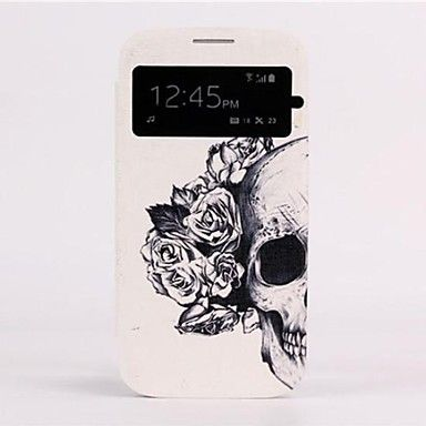 auto slaap / waak-up schedel dakraam ontwerp lederen full body case voor de samsung galaxy s4 i9500 – EUR € 8.99