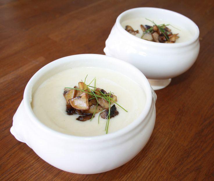 kknolselderijsoep met champignons
