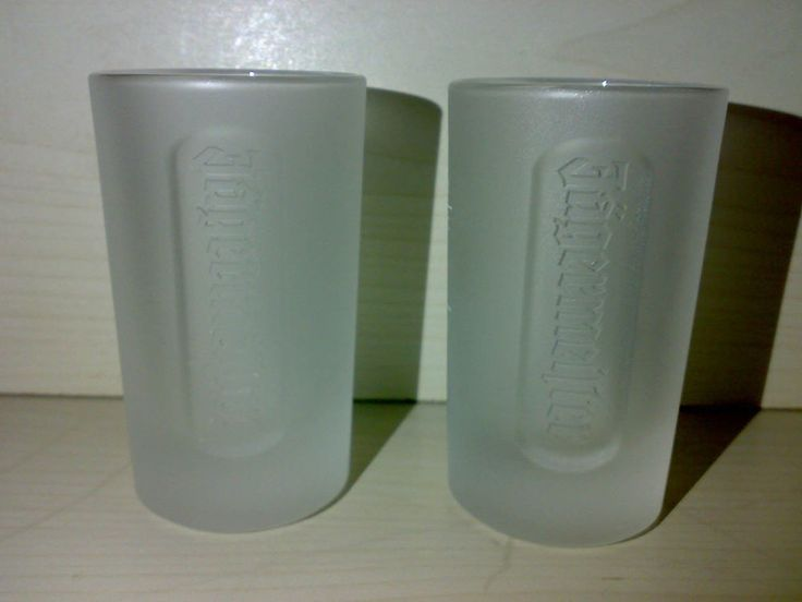 2 Gläser Original JÄGERMEISTER Halbbitter Glas Edel KULT Für Bar Bistro * LOOK *