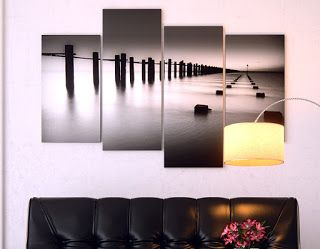 his canvas has a strong frame, is well made and the print has deep colours . Also its very clear and sharp contrast adds up to its quality. It would look great on any wall. The  black colors on the picture  fits very nice with our black sofa. http://www.amazon.co.uk/Large-Living-Canvas-Pictures-Prints/dp/B00A1SAODE/ref=as_sl_pc_ss_til?tag=httpefevresbl-21&linkCode=w01&linkId=&creativeASIN=B00A1SAODE