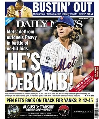 Jacob DeGrom, '10 alumnus, leads the New York Mets to victory as their new starting pitcher!