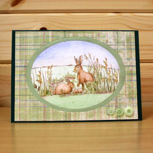 """CS124D """"March Hares"""" Clear Set enthält 9 Briefmarken. Entworfen von Sharon Ben … – Hobby Art (Jenny Mayes)"""