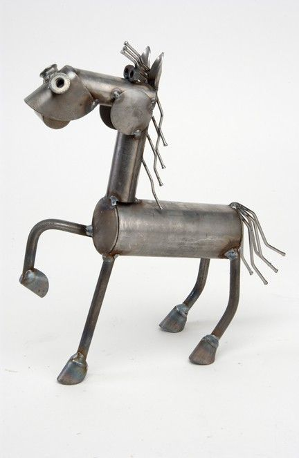 Metal Horse Statue   This Cheerful Pony Sculpture Will Brighten Your Day  With His One Host