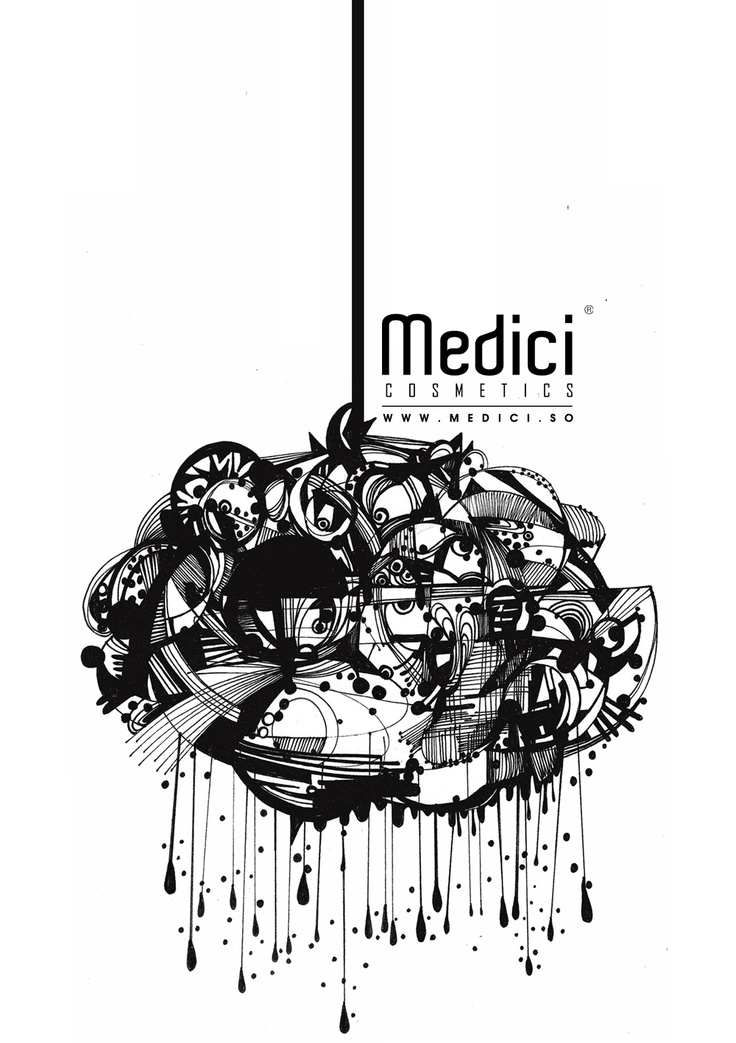 """www.medici.so [Medici x Peach Bang] """"3D Barcelona_3D 바르셀로나_ink on paper """""""