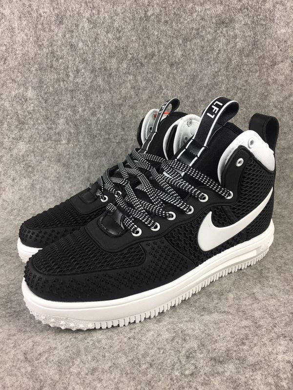 detailed look fb664 566fd 2018 Spring Fashion Nike Lunar Force 1 Duckboot High Black White