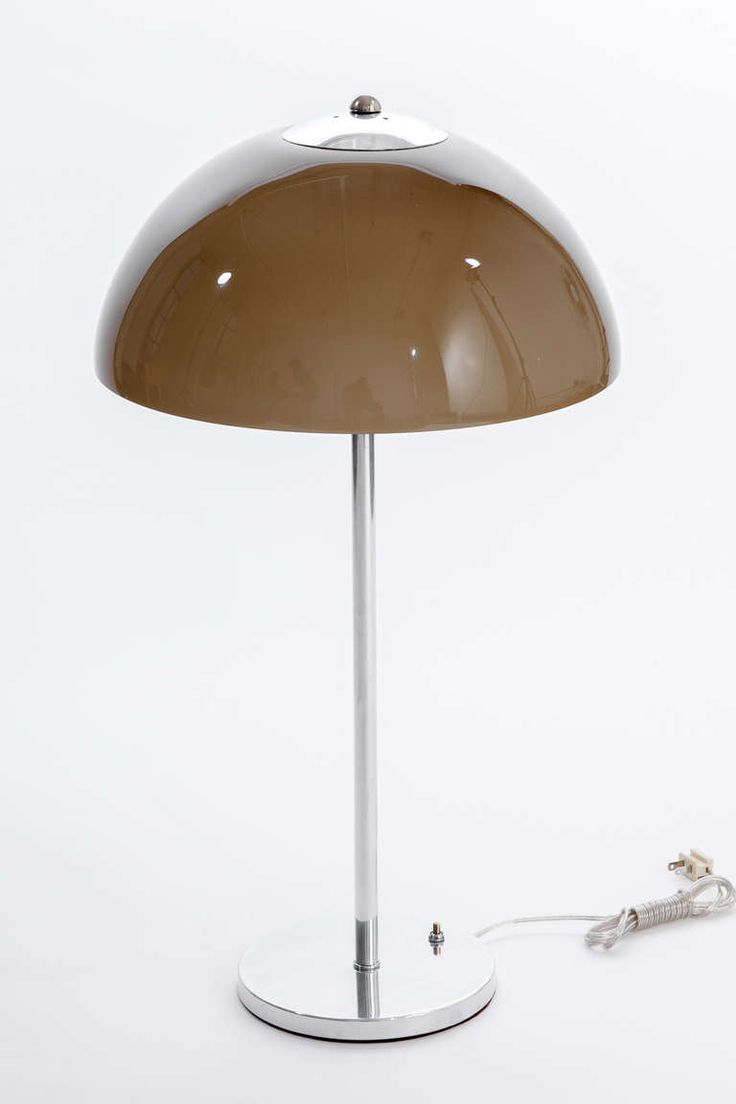 Table lamp design classic - Gino Sarfatti Nickel Smoke Glass Dome Lamps