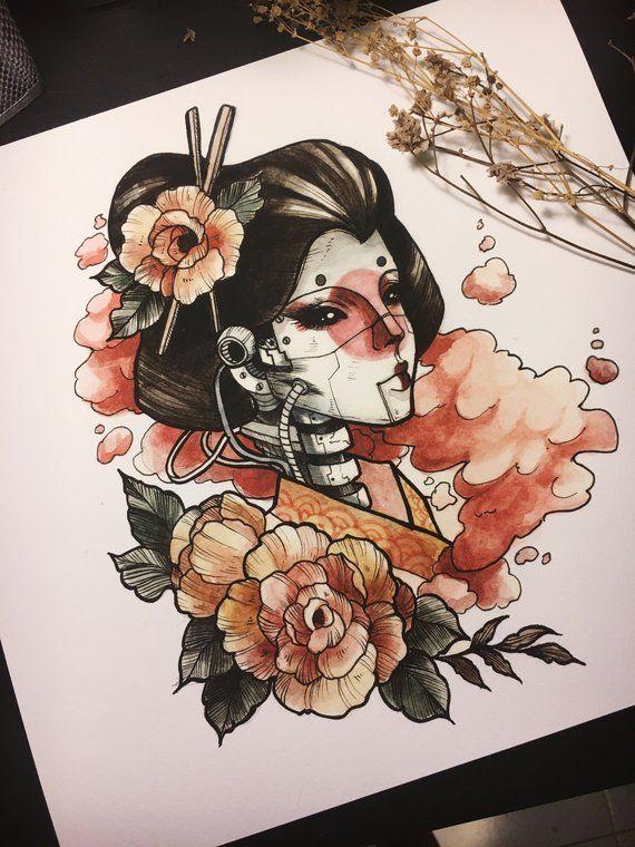 Image 0 Geisha Art Japanese Tattoo Art Art Sketches