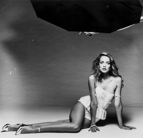 Jerry Hall photographed by Terry O'Neill, 1978.