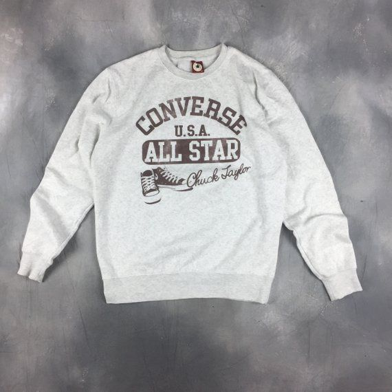 Vintage 90s Converse Chuck Taylor White Spellout Sweatshirt