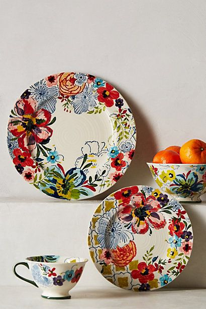 Sissinghurst Castle Dinner Plate. Love the floral print!  #anthropologie #pintowin