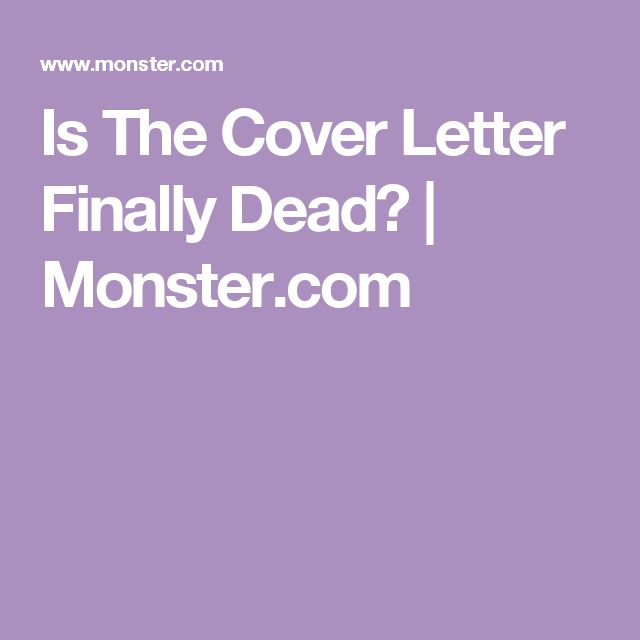is the cover letter finally dead