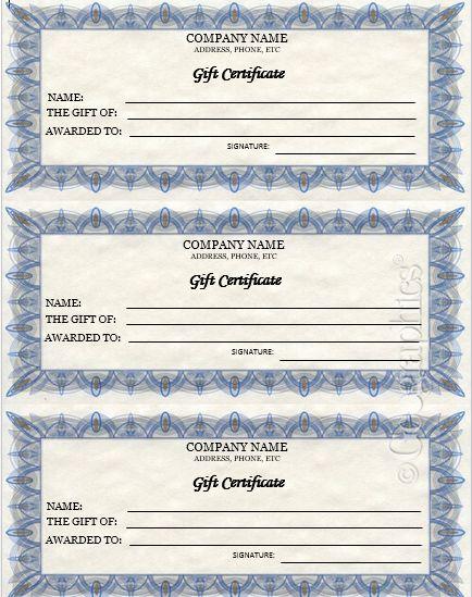 best 25 gift certificate templates ideas on pinterest