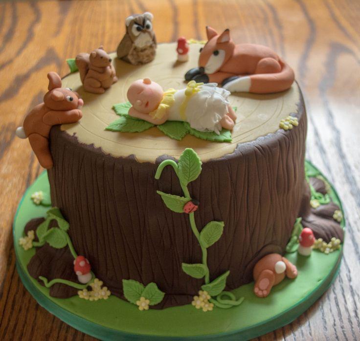 woodland creatures fun cakes christening forward woodland creatures