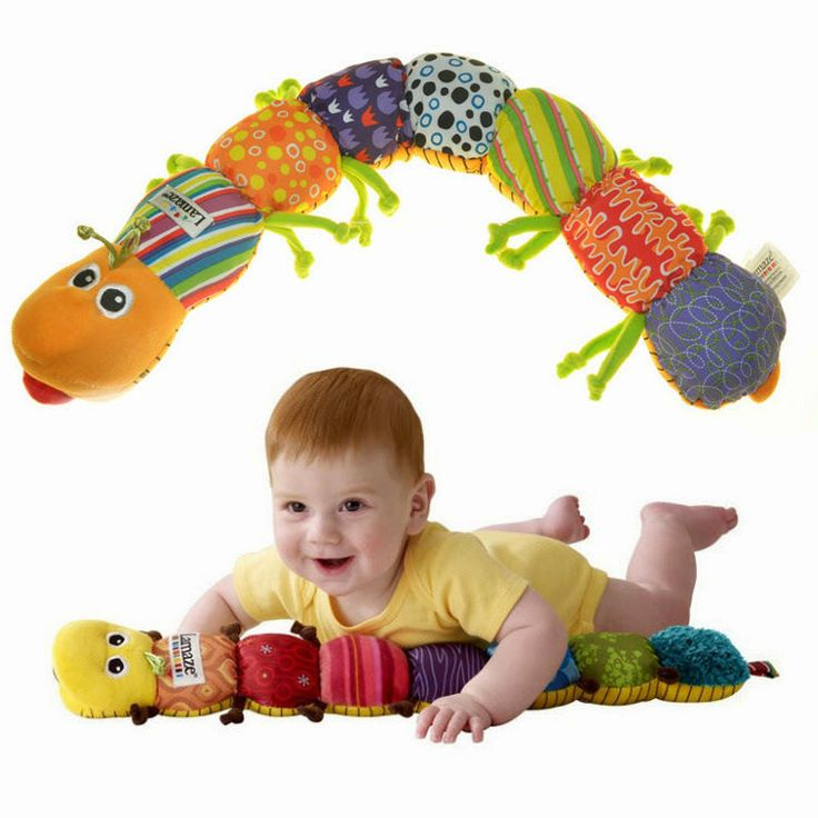 Music Carpenterworm Rattle Big Bell Ring Baby Crawl Educational Baby Toys Gift